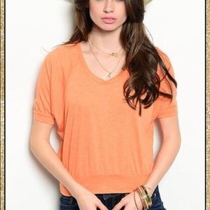 Tops - 'So Sweet' Tangerine Crop Top